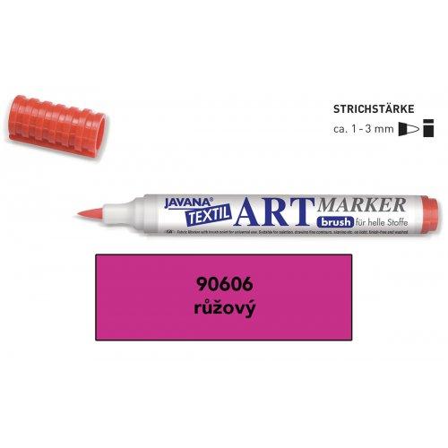 Art Marker fix na světlý textil Javana růžový