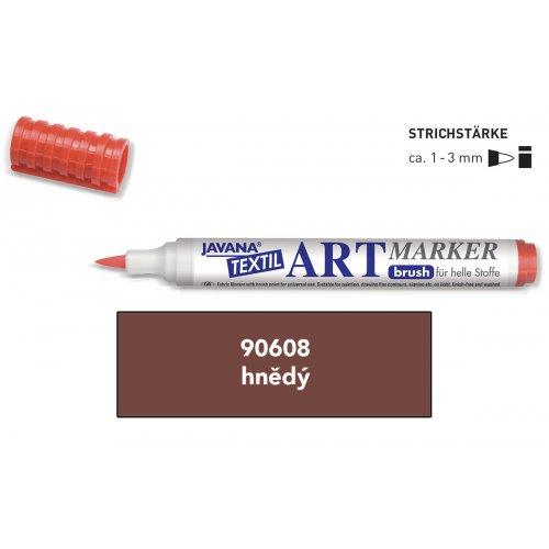 Art Marker fix na světlý textil Javana hnědý