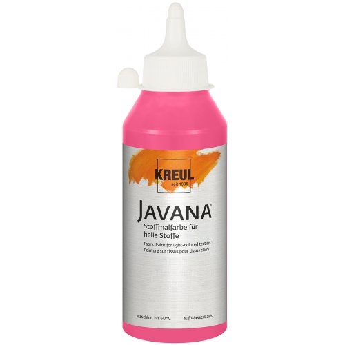Barva na světlý textil JAVANA 250 ml růžová