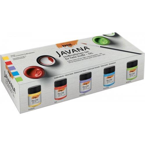 Sada barev na světlý textil JAVANA 5 x 50 ml - XXL