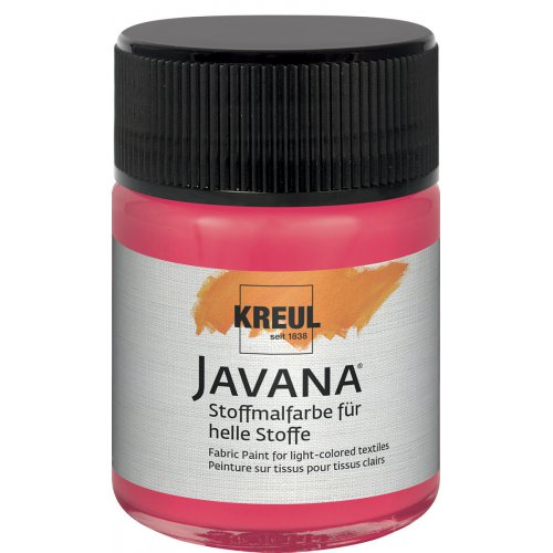 Barva na světlý textil JAVANA 50 ml fluorescenční červená