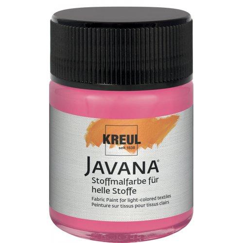 Barva na světlý textil JAVANA 50 ml růžová