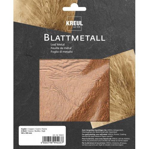 Metalické plátky KREUL 140 x 140 mm 6 listů MĚDĚNÁ