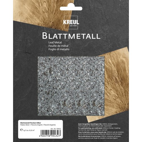 Metalické vločky ART DECO 2 g stříbrné