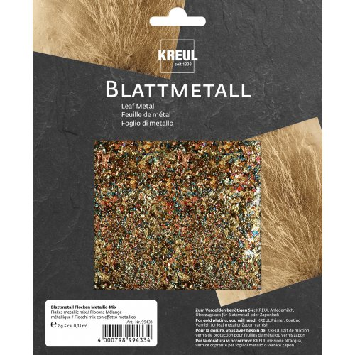 Metalické vločky ART DECO 2 g mix