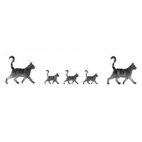 Samolepicí šablona 13 x 40 cm kočky
