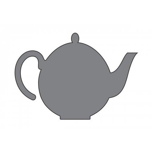 Samolepicí šablona 7 x 10 cm Čajová konvice