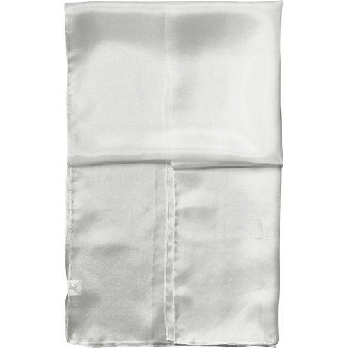 Šál hedvábí bílé 140 x 45 cm