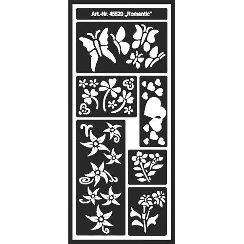 Šablona samolepicí flexibilní, Romantic, 12,5 x 28,5 cm