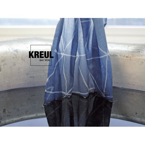 Batikovací barva JAVANA 70 g oranžová - 985_KREUL_Javana_Batik-Textilfarbe_blauer-Stoff.jpg