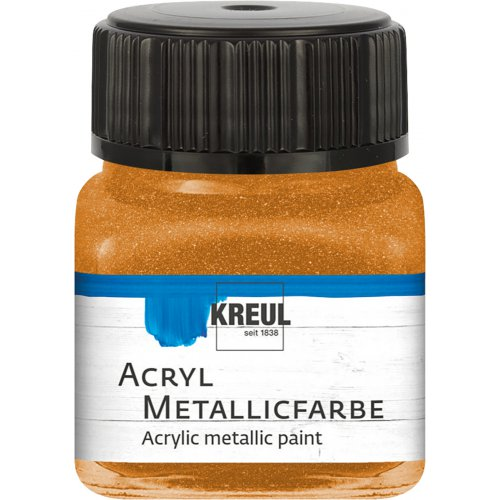 Akrylová barva metalická KREUL 20 ml zlatobronzová