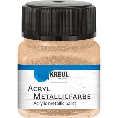 Akrylová barva metalická KREUL 20 ml šampaňská