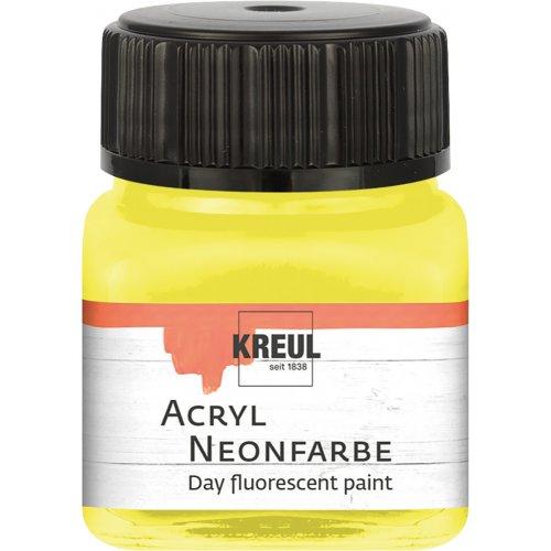Akrylová barva neonová KREUL 20 ml žlutá