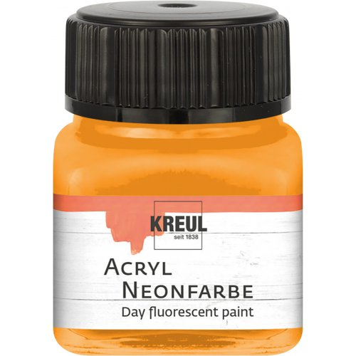 Akrylová barva neonová KREUL 20 ml oranžová