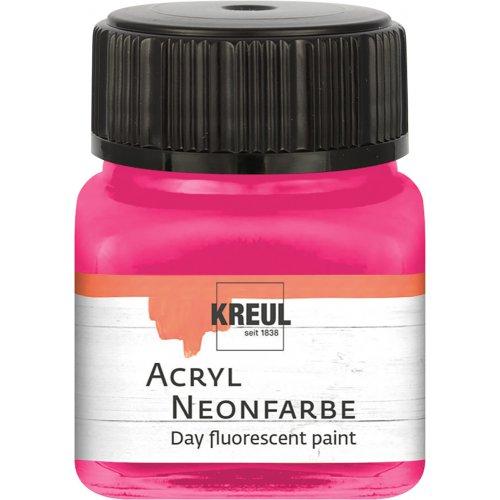 Akrylová barva neonová KREUL 20 ml růžová