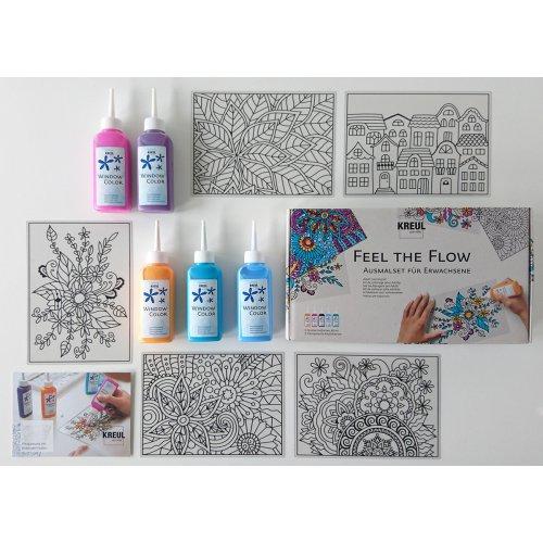 "Sada barvy na sklo pro dospělé - antistresové ,,Feel the flow"" - 22700_KREUL_FeelTheFlow_image3.jpg"