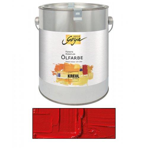 Olejová barva SOLO GOYA kadmium červená tmavá 2500 ml