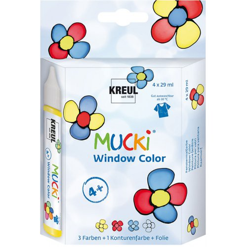 Sada Barva na sklo MUCKI WINDOW COLOR 29 ml v tubě 4 barvy