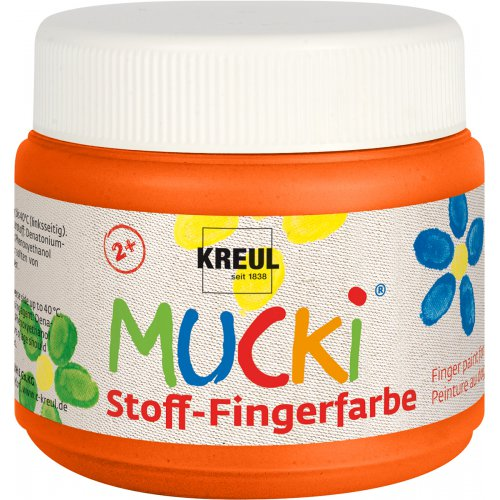 Prstová barva na textil MUCKI 150 ml oranžová