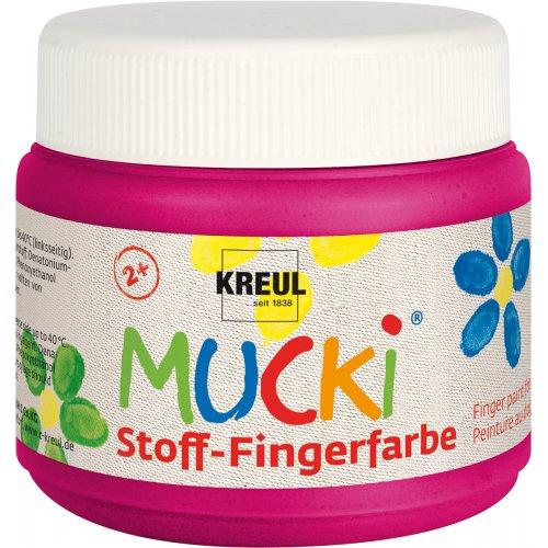 Prstová barva na textil MUCKI 150 ml růžová