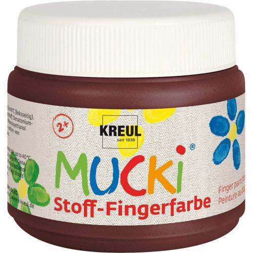 Prstová barva na textil MUCKI 150 ml hnědá