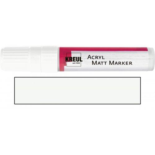 Akrylový marker matný KREUL XXL bílý