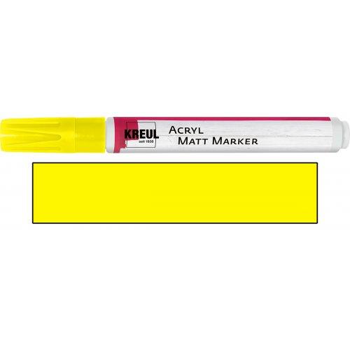 Akrylový marker matný KREUL medium žlutý