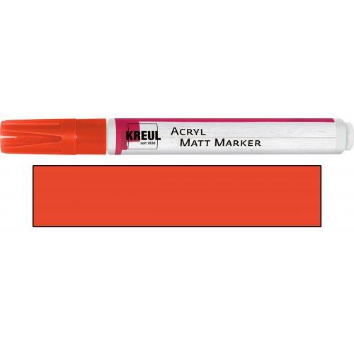 Akrylový marker matný KREUL medium červený