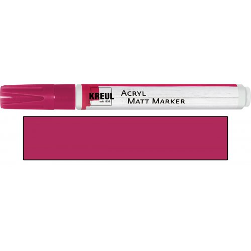 Akrylový marker matný KREUL medium magenta