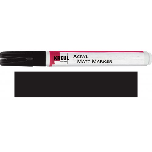 Akrylový marker matný KREUL medium černý
