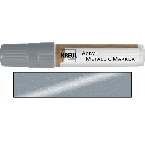 Akrylový marker metalický KREUL XXL stříbrný