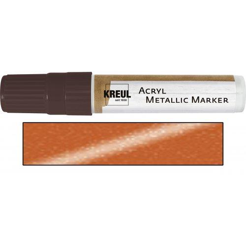 Akrylový marker metalický KREUL XXL měděný