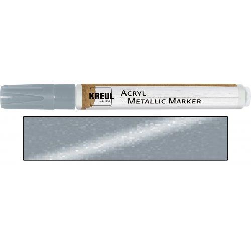 Akrylový marker metalický KREUL medium stříbrný