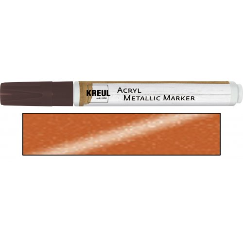 Akrylový marker metalický KREUL medium měděný