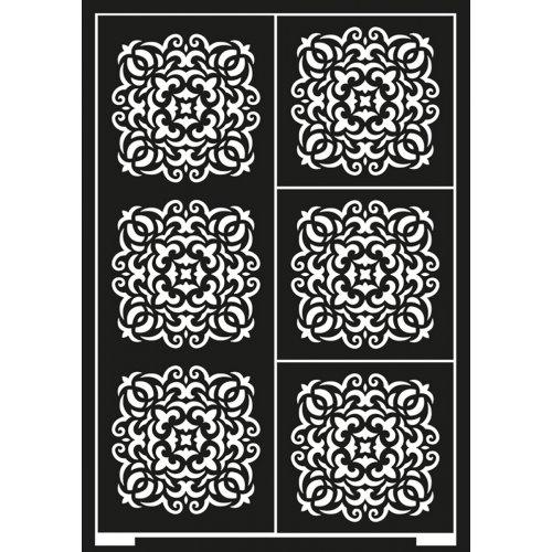 Samolepící šablona A5 Kachličkový vzor