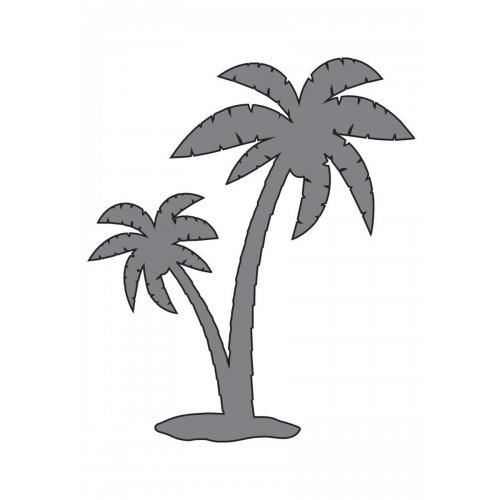 Samolepící šablona 7 x 10 cm Palmy