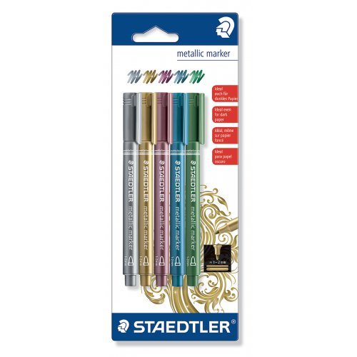 Sada Metalický popisovač STAEDTLER - 5 barev