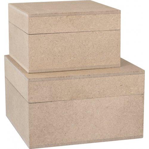 Dřevěná krabice obdelníková sada 2 velikosti