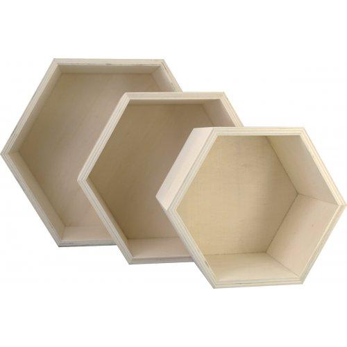 Dřevěná krabice Medovník KREUL sada 3 velikosti