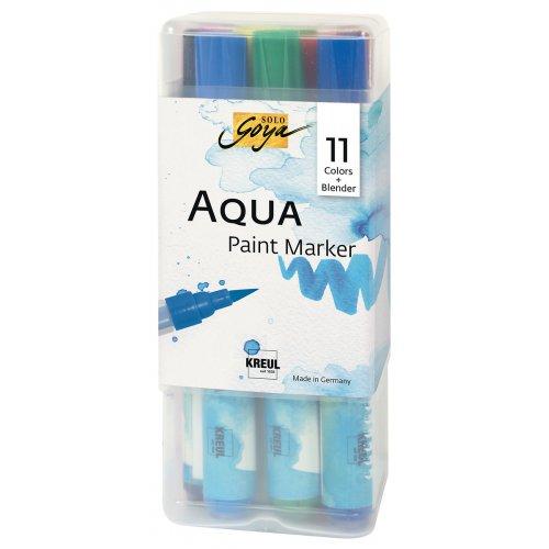 Sada Aqua marker SOLO GOYA - 11 barev + míchací marker