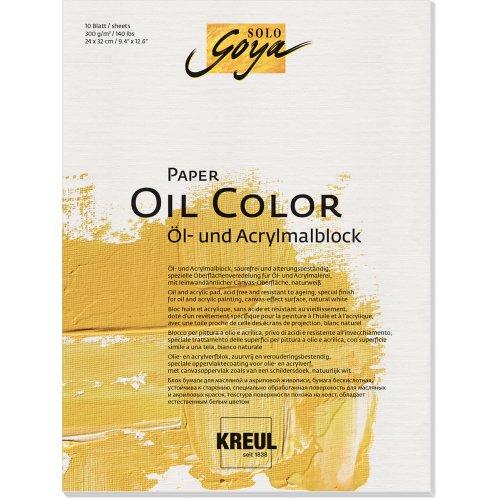 Papír pro olejové barvy SOLO GOYA 300 g/m2 - 24 x 32 cm