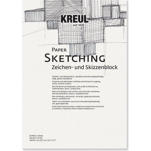 Papír na skicy KREUL 120 g/m2 - DIN A4