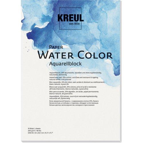 Papír akvarelový KREUL 200 g/m2 - DIN A4