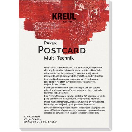 Papír pohlednice KREUL 300 g/m2 - DIN A6
