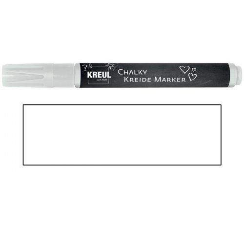 Křídový marker KREUL Medium sněhová bílá