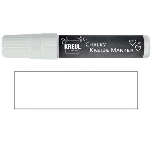 Křídový marker KREUL XXL sněhová bílá