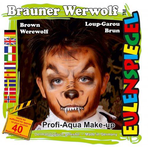 Sada barev na obličej - Hnědý Vlkodlak