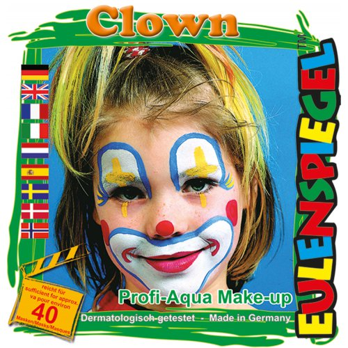 Sada barev na obličej - Zlý klaun