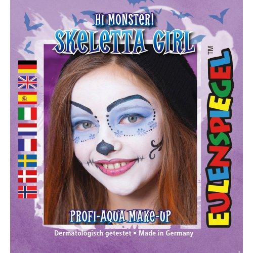 Sada barev na obličej - Kostra žena