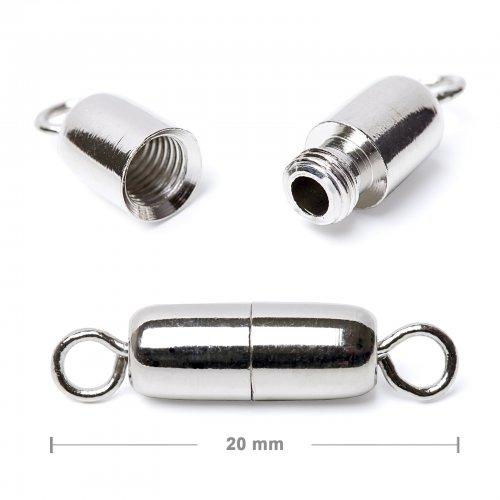 Šroubovací zapínání 20mm stříbrné  5 ks v balení